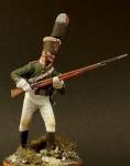 Унтер-офицер пехотных полков, Россия 1805 - Оловянный солдатик, белый металл (набор для сборки из 10 деталей). Размер 54 мм (1:30)