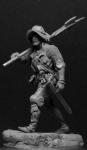 Европейский алебардщик, 1460-75 гг. - Оловянный солдатик, белый металл (набор для сборки из 14 деталей). Размер 54 мм (1:30)
