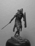Воин-Кшатрий. Древняя Индия, IV-II века до н.э. - Оловянный солдатик, белый металл (набор для сборки из 10 деталей). Размер 54 мм (1:30)