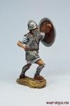 Тяжеловооруженный пехотинец священного отряда Карфагена, 3-2 вв  - Оловянный солдатик коллекционная роспись 54 мм. Все оловянные солдатики расписываются художником в ручную