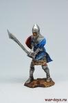 Рыцарь-гость Тевтонского ордена, 14 век. - Оловянный солдатик коллекционная роспись 54 мм. Все оловянные солдатики расписываются художником в ручную