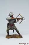 Воин-крестоносец с арбалетом, 12 век. - Оловянный солдатик коллекционная роспись 54 мм. Все оловянные солдатики расписываются художником в ручную