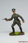 Немецкий офицер, 1944-45 гг. - Оловянный солдатик коллекционная роспись 54 мм. Все оловянные солдатики расписываются художником в ручную