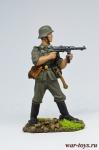 Немецкий пехотинец с MP-40, 1944-45 гг. - Оловянный солдатик коллекционная роспись 54 мм. Все оловянные солдатики расписываются художником в ручную