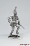 Капитан батальона португальских егерей 1811-1813 года - Не крашенный оловянный солдатик. Высота 54 мм.