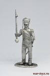 Тамбур-мажор Гвардейского экипажа 1814-25 - Не крашенный оловянный солдатик. Высота 54 мм.