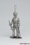 Трубач конно-егерских полков, 1813-14 - Не крашенный оловянный солдатик. Высота 54 мм.