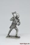 Сапер инженерного корпуса армии Наполеона 1812 - Не крашенный оловянный солдатик. Высота 54 мм.