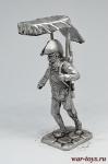 Сержант девятого линейного полка 1799 год - Не крашенный оловянный солдатик. Высота 54 мм.