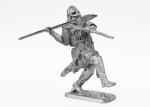 Викинг с копьем - Не крашенный оловянный солдатик. Высота 54 мм.