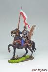 Польский гусар Придворной хоругви, 1605 год - Оловянный солдатик коллекционная роспись 54 мм. Все оловянные солдатики расписываются художником вручную