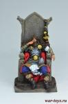 Ярл на троне 800 г.н.э. - Оловянный солдатик коллекционная роспись 54 мм. Все оловянные солдатики расписываются художником вручную