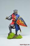 Рыцарь-крестоносец, 12 век - Оловянный солдатик коллекционная роспись 54 мм. Все оловянные солдатики расписываются художником вручную