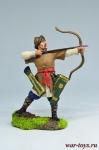 Воин-сарацин с луком, 12 век - Оловянный солдатик коллекционная роспись 54 мм. Все оловянные солдатики расписываются художником вручную