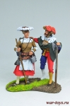 Фрау с ландскнехтом - Оловянный солдатик коллекционная роспись 54 мм. Все оловянные солдатики расписываются художником вручную