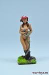 Огненная девушка 40 мм - Оловянный солдатик коллекционная роспись 40 мм. Все оловянные солдатики расписываются художником вручную