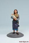 Женщина с ребенком - Оловянный солдатик коллекционная роспись 54 мм. Все оловянные солдатики расписываются художником вручную