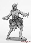 Гренадер Карла 12 - Не крашенный оловянный солдатик. Высота 54 мм.