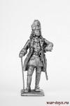 Офицер гренадеров Карла 12 - Не крашенный оловянный солдатик. Высота 54 мм.