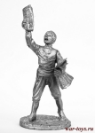 Мальчик-газетчик - Не крашенный оловянный солдатик. Высота 54 мм.
