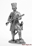 Ратник конного полка Пензенского ополчения, 1812 г. - Не крашенный оловянный солдатик. Высота 54 мм.