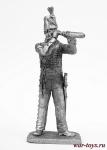 Офицер стрелков 95 полка Британия 1812-15 года - Не крашенный оловянный солдатик. Высота 54 мм.