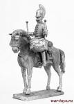 Литаврщик кавалергардского полка 1812 год - Не крашенный оловянный солдатик. Высота 54 мм.