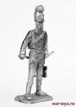 Офицер егерей Нассау - Не крашенный оловянный солдатик. Высота 54 мм.