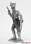 Лейтенант пехотного полка Герцогства Варшавского - Не крашенный оловянный солдатик. Высота 54 мм.