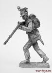Вольтижер пехотного полка Герцогства Варшавского - Не крашенный оловянный солдатик. Высота 54 мм.