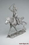 Конный драгун, Франция - Не крашенный оловянный солдатик. Высота 54 мм.