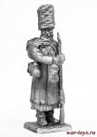 Французский солдат (отступление от Москвы) 1812 - Не крашенный оловянный солдатик. Высота 54 мм.