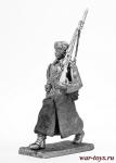 Курсант, 1941 - Не крашенный оловянный солдатик. Высота 54 мм.
