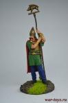 Кельтский знаменосец, I в. н.э. - Оловянный солдатик коллекционная роспись 54 мм. Все оловянные солдатики расписываются художником вручную