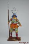 Самурай с копьём яри, 1600 год - Оловянный солдатик коллекционная роспись 54 мм. Все оловянные солдатики расписываются художником вручную
