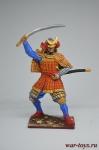 Самурай в соломенной накидке, 16 век - Оловянный солдатик коллекционная роспись 54 мм. Все оловянные солдатики расписываются художником вручную
