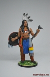 Индеец со щитом и тамагавком