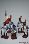 Набор оловянных солдатиков - Наполеон - Набор оловянных солдатиков 5 шт. Высота солдатиков 54 мм.
