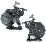 Гном-воин - Не крашенный оловянный солдатик. Высота 54 мм.