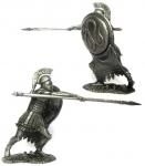 Греческий гоплит, 5 вв до н.э. - Не крашенный оловянный солдатик. Высота 54 мм.