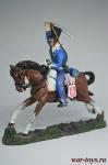 Французская Легкая кавалерия. Французский гусар 1813 - Коллекционный оловянный солдатик. Высота всадника 54 мм. Del Prado без блистера