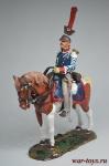 Трубач Житомерского Уланского полка, Россия 1815 - Коллекционный оловянный солдатик. Высота всадника 54 мм. Del Prado без блистера