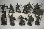Набор -  Крестовые походы, часть 2 (пластик - Набор из 12 фигур. Пластик, высота фигур 54 мм.