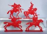 Конные половцы 1:32 54 мм - Набор из 4 фигур 54 мм 1:32. Пластик