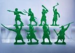 Крестьяне и рабочие 54мм 1:32 - Набор из 8 фигур 54 мм 1:32. Пластик
