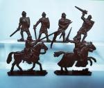 Люди Барона Хлодомира 54мм 1:32 - Набор из 6 фигур 54 мм 1:32. Пластик