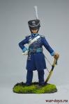 Обер-офицер 1-го Смертоносного (Бессмертного) конного полка - Оловянный солдатик коллекционная роспись 54 мм. Все оловянные солдатики расписываются художником вручную