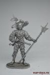 Ландскнехт, 14 век - Не крашенный оловянный солдатик. Высота 54 мм.