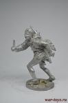 Индеец с ножом - Не крашенный оловянный солдатик. Высота 54 мм.