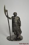 Сержант Тевтонского Ордена - Не крашенный оловянный солдатик. Высота 54 мм.